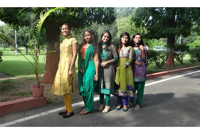 GTU & ICCR International Students in traditional outfits at C.M.Bunglow  for Rakhi Festival Celebration on 21st August 2013
