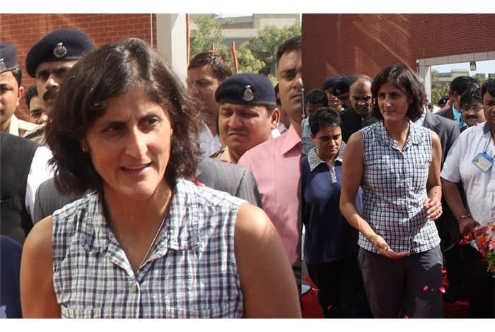 Eminent   Astronaut of NASA Ms. Sunita Williams came to GTU on 6th April 2013 to receive Honorary Doctorate commenced to her in January 2013 by Gujarat Technological University
